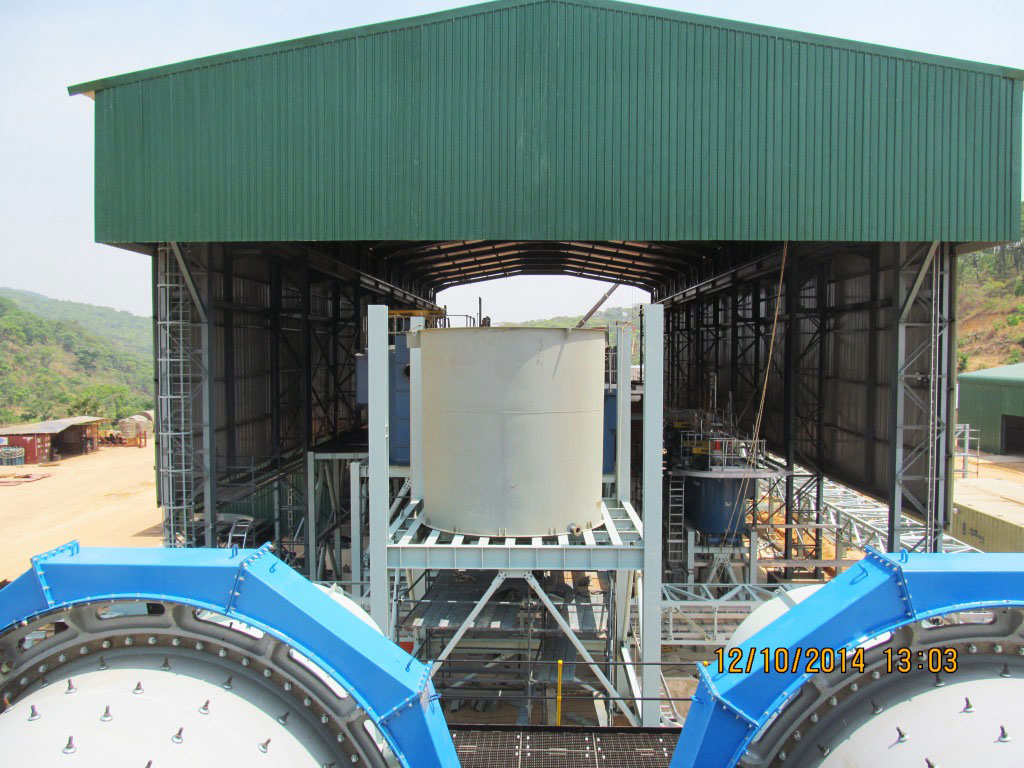 Flotation Area Rougher Conditioning Tank (42TANK01) Erection
